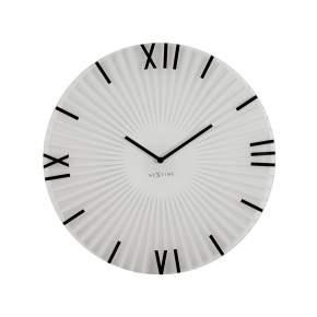 Zegar ścienny NeXtime Sticks Ø 43 cm, biały