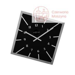 Zegar ścienny NeXtime Off Balance 54,5 cm, czarny