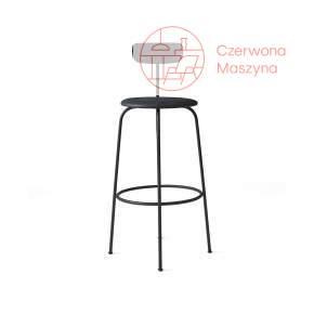 Krzesło barowe Menu Afteroom skóra Soerensen 102 cm, czarne