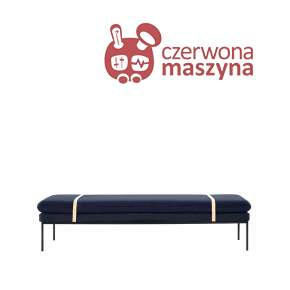 Leżanka ferm Living Turn Wool blue