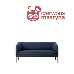 Sofa 2-osobowa ferm Living Turn Cotton blue