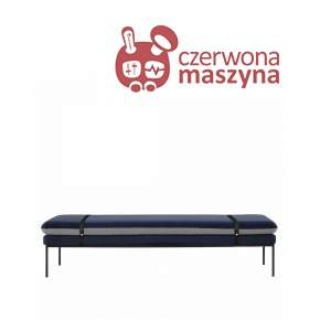 Leżanka ferm Living Turn Wool blue / leight grey / black