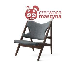 Fotel Menu Knitting Chair, Dark Stained Oak, jasnoniebieski