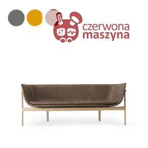 Sofa 3-osobowa Menu Tailor GR1L natural oak / leather