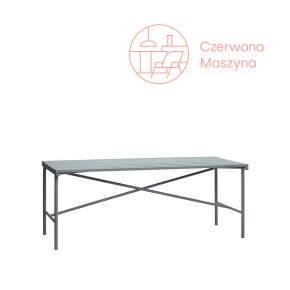 Stół metalowy Hübsch 191 x 92 cm, szary