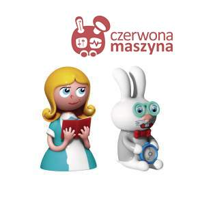 2 Figurki A di Alessi: Alice & The White Rabbit