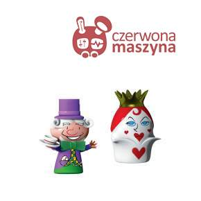 2 Figurki A di Alessi: The Hatter & The Queen of Hearts