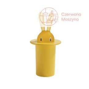 Pojemnik na wykałaczki A di Alessi Magic Bunny żółty