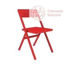 Krzesło składane Alessi Piana, czerwone