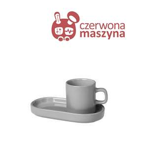 2 filiżanki do espresso ze spodkami Blomus Mio mirage grey