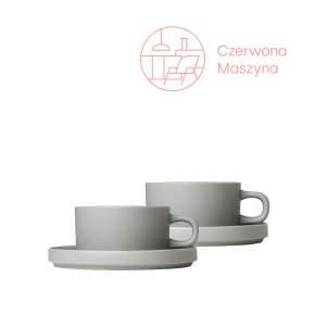 2 filiżanki z podstawkami Blomus Pilar, 170 ml, mirage gray