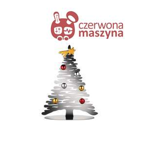 Choinka Alessi Bark for Christmas 25 cm, srebrna