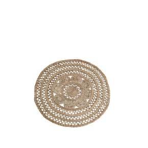 Okrągły dywan z juty Madam Stoltz,Ø 120 cm, natural