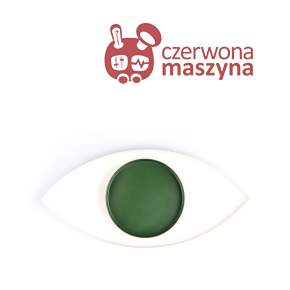 Taca metalowa Doiy The Eye, White and Green