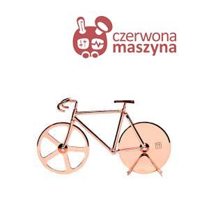 Nóż do pizzy rower Doiy Fixie, Copper