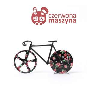 Nóż do pizzy rower Doiy Fixie, Wild Rose