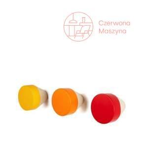 3 Wieszaki Eno Studio Clou czerwono-pomarańczowe