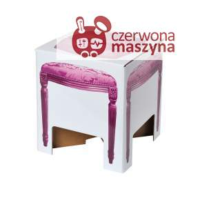 Taboret kartonowy DayCollection 4meK, fioletowy