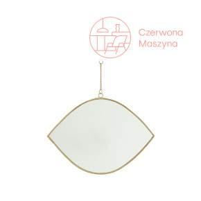 Wiszące lustro w kształcie oka Madam Stoltz dł. 26 cm, brass
