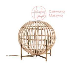Bambusowa lampa stołowa Madam Stoltz, jasne drewno