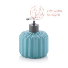 Ceramiczny dozownik do mydła Kela Origami, 0,4 l, turkusowy