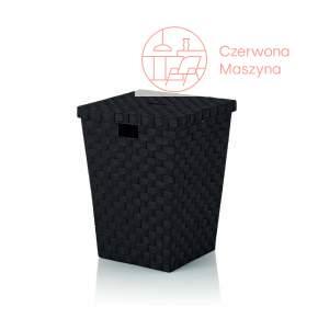 Kosz na pranie Kela Alvaro, 40x40x52 cm, czarny