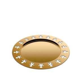 Taca A di Alessi Girotondo Ø 40 cm, złota