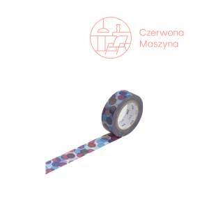 Taśma dekoracyjna Masking Tape 1P Deco spot blue