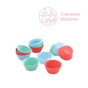 12 Foremek silikonowych do pieczenia babeczek Lurch FlexiForm, pastelowe