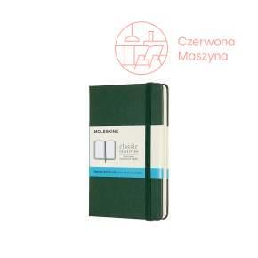 Notes Moleskine Classic P w kropki, twarda oprawa, 192 strony, myrtle green