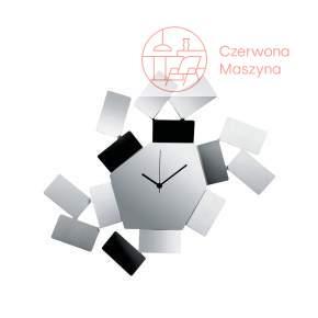 Zegar ścienny Alessi La Stanza dello Scirocco, srebrny