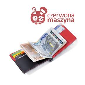 Etui na karty z klipsem na banknoty Troika Red Pepper