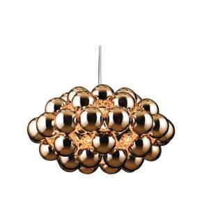 Lampa wisząca Innermost Beads Ø 77 cm, miedziana