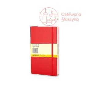 Notes Moleskine Classic L w kratkę, twarda oprawa, 240 stron, czerwony