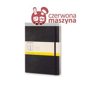 Notes Moleskine Classic XL w kratkę, twarda oprawa, 192 strony, czarny