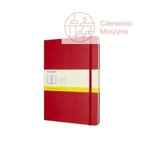 Notes Moleskine Classic XL w kratkę, twarda oprawa, 192 strony, czerwony