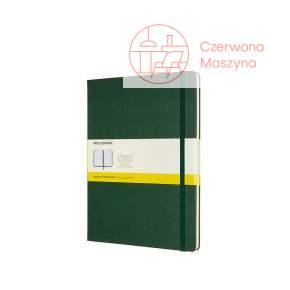 Notes Moleskine Classic XL w kratkę, twarda oprawa, 192 strony, myrtle green