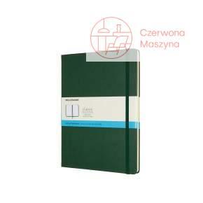 Notes Moleskine Classic XL w kropki, twarda oprawa, 192 strony, myrtle green