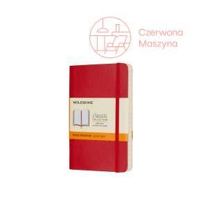 Notes Moleskine Classic P w linie, miękka oprawa, 192 strony, czerwony