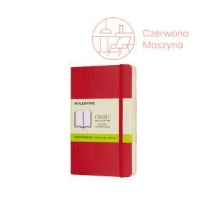 Notes Moleskine Classic P gładki, miękka oprawa, 192 strony, czerwony