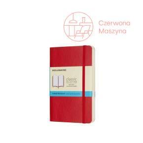 Notes Moleskine Classic P w kropki, miękka oprawa, 192 strony, czerwony