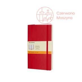 Notes Moleskine Classic L w linie, miękka oprawa, 192 strony, czerwony