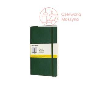 Notes Moleskine L w kratkę, miękka oprawa, 192 strony, myrtle green
