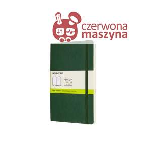 Notes Moleskine L gładki, miękka oprawa, 192 strony, myrtle green