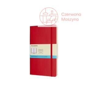 Notes Moleskine Classic L w kropki, miękka oprawa, 192 strony, czerwony
