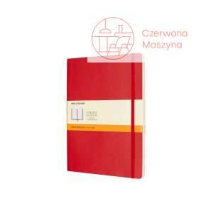 Notes Moleskine Classic XL w linie, miękka oprawa, 192 strony, czerwony