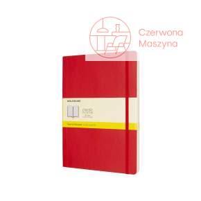 Notes Moleskine Classic XL w kratkę, miękka oprawa, 192 strony, czerwony