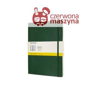 Notes Moleskine XL w kratkę, miękka oprawa, 192 strony, myrtle green