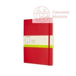 Notes Moleskine Classic XL gładki, miękka oprawa, 192 strony, czerwony