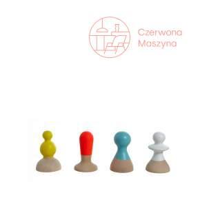 4 Wieszaki Eno Studio Talking Heads, multikolor